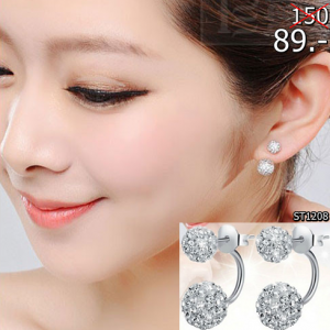 2559-05-09 18_28_40-Double Sided Crystal Ball Brass 925 Sterling Silver Stud Earrings for Women Cubi