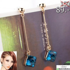 Fashion-Earrings-For-Woman-Jewelry-Brincos-Imitation-Rhodium-18K-Gold-Plated-Hot-Sale-Square-Color-Crystal