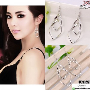 Free-Shipping-Hot-Sale-Elegant-Silver-Plated-Twist-Drop-Long-Earring-Dangle-Earrings-Wedding-Party - Copy