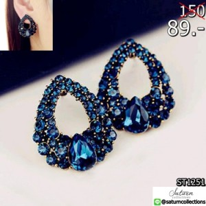 2016-New-arrival-Celebrity-wind-drops-Sapphire-blue-rhinestone-fashion-boutique-stud-earrings-for-woman