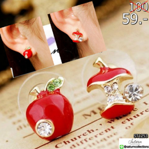 2559-06-10 14_30_59-2015 Fashion jewellery red crystal apple stud earring free B1144-in Stud Earring