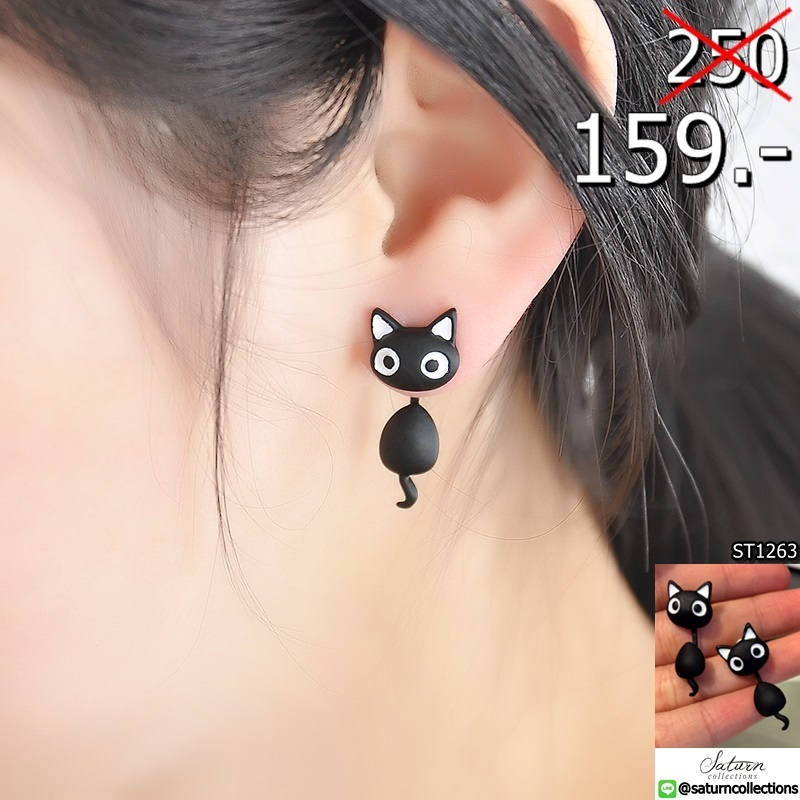 1-PCS-Cute-Kitten-Cat-Stud-Earrings-Cat-Black-white-Ear-Jewelry-Earrings-For-Women-Fashion (1)