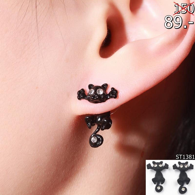 1-Pair-New-Fashion-Cat-earring-cute-fine-Black-Kitten-Jewelry-Piercing-Ear-Stud-Earrings-for