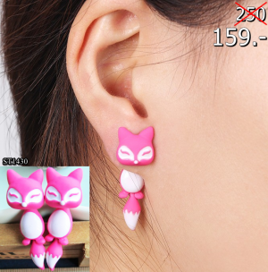 2559-12-11 21_04_30-New Fashion 12 Colors Yellow Purple Black 3D Animal Cute Fox Stud Earrings for W