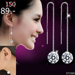 Silver-Colour-ear-wire-earrings-female-models-fashion-cute-crystal-jewelry-super-flash-retro-jewelry-factory