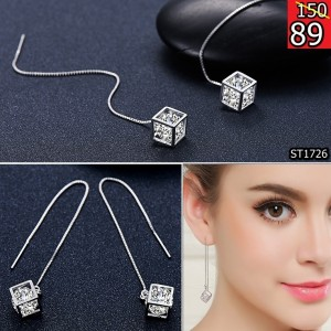 UMGODLY-New-Arrival-Silver-Color-Crystal-Cube-Threader-Earrings-Long-Tassel-Chain-Shiny-Zircon-Dangle-Earring