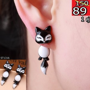 New-Fashion-Yellow-Purple-Black-Animal-Cute-Fox-Stud-Earrings-For-Women-Jewelry-Gifts-0418